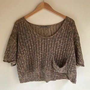 Oatmeal Knit Crop Top M